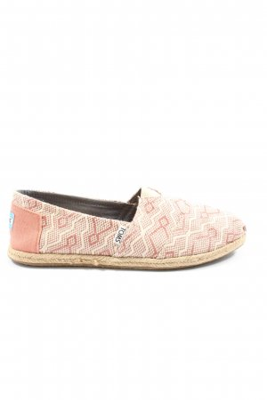 Toms Espadrilles-Sandalen creme-pink grafisches Muster Casual-Look