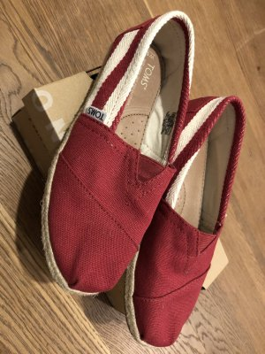 Toms Espadrille Sandals white-red