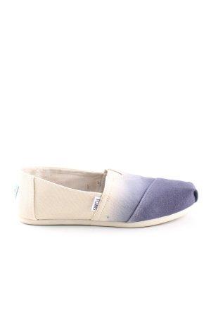 Toms Espadrilles-Sandalen wollweiß-blau Farbverlauf Casual-Look