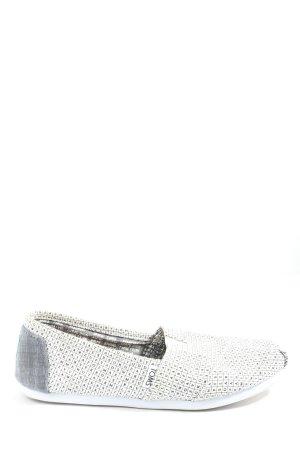 Toms Espadrilles-Sandalen wollweiß-hellgrau Schriftzug gedruckt Casual-Look