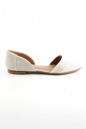 Toms faltbare Ballerinas wollweiß Business-Look
