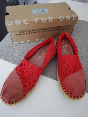 TOMS Loafer Slipper Womens Classics red Mesh