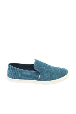 Toms Schlüpfschuhe blau Streifenmuster Casual-Look