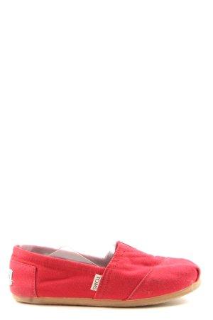 Toms Schlüpfschuhe rot Casual-Look