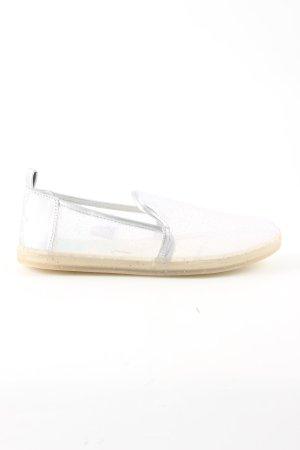 Toms Schlüpfschuhe weiß-silberfarben Casual-Look