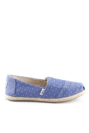 Toms Schlüpfschuhe blau-weiß Punktemuster Casual-Look