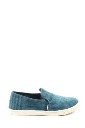 Toms Sneaker slip-on blu stile casual