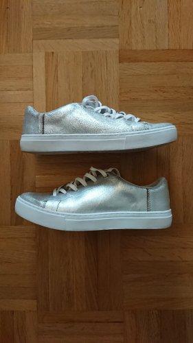 TOMS Silver Metallic Leder Lenox Sneaker