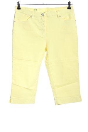 Toni Spodnie Capri bladożółty W stylu casual