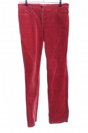 Toni Pantalon en velours côtelé rouge style décontracté