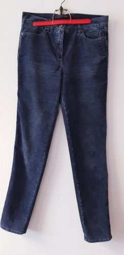 Toni Pantalon en velours côtelé bleu foncé