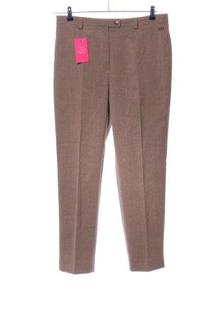 Toni Dress Pantalone di lana marrone puntinato stile casual
