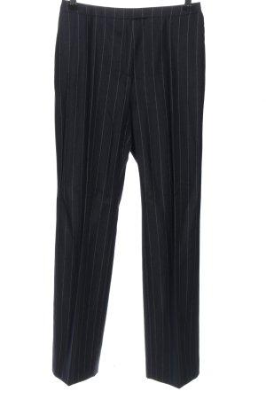 Toni Gard Anzughose schwarz-hellgrau Streifenmuster Business-Look