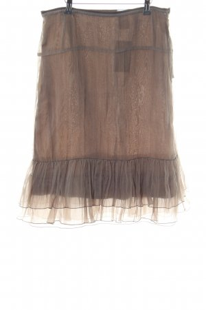 Toni Gard Flounce Skirt bronze-colored elegant