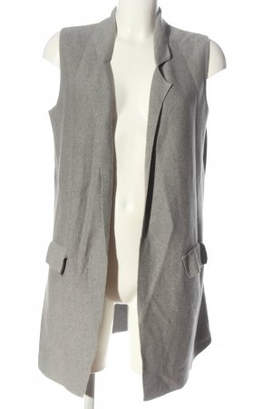 Toni Long Knitted Vest light grey casual look