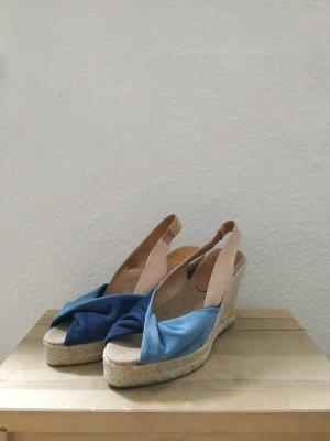 Toni Pons Wedge Sandals pink-blue leather