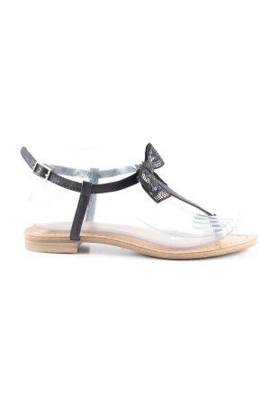 toni sailer Zehentrenner-Sandalen schwarz Casual-Look