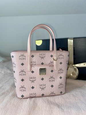 MCM Mini sac or rose cuir