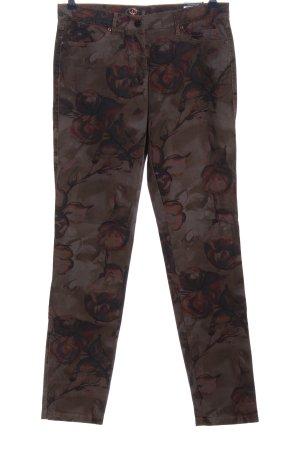 Toni Jeans slim fit marrone motivo floreale stile casual