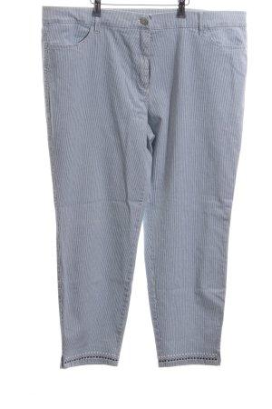 Toni Slim Jeans blau-hellgrau Streifenmuster Casual-Look