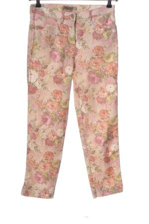 Toni Jeansy z prostymi nogawkami Wzór w kwiaty W stylu casual