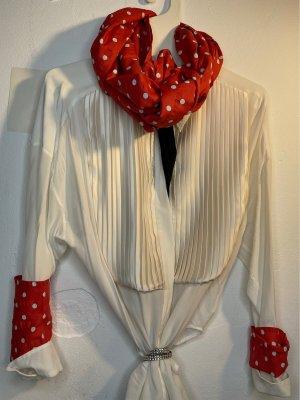 Cravatta casual rosso-bianco