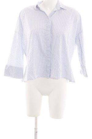 tonno & panna Hemd-Bluse weiß-blau Streifenmuster Business-Look