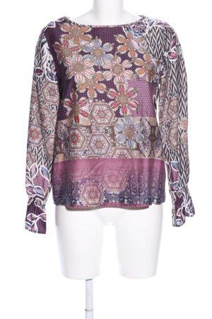 tonno & panna Langarm-Bluse abstraktes Muster Casual-Look