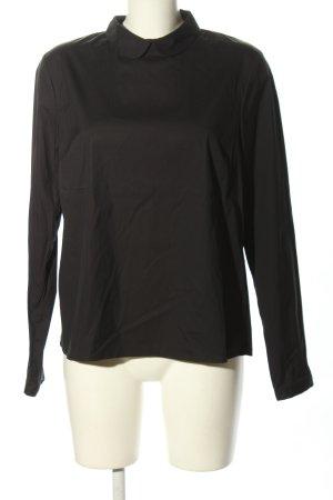 tonno & panna Langarm-Bluse schwarz Business-Look