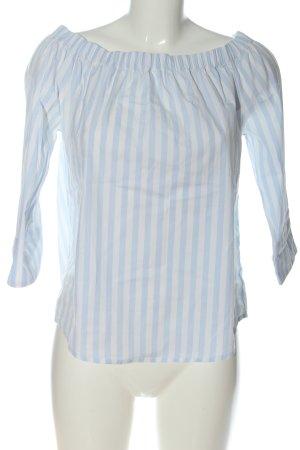 tonno & panna Schlupf-Bluse blau-creme Streifenmuster Casual-Look