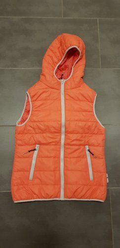 Tony Brown Hooded Vest silver-colored-orange