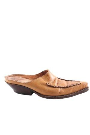 Tony Mora Mule à talon brun style décontracté