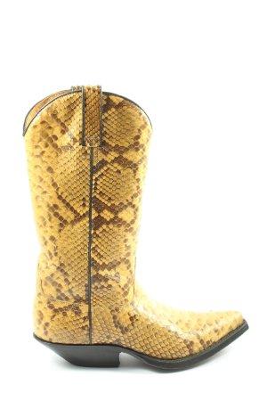 Tony Mora Buty w stylu western bladożółty-brązowy Na całej powierzchni