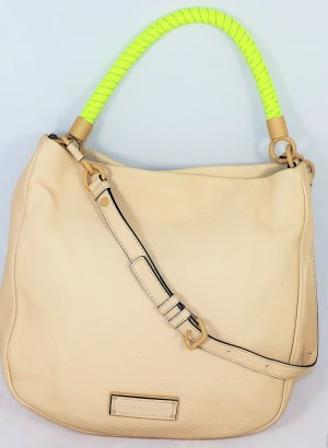 Marc by Marc Jacobs Hobo kremowy Skóra