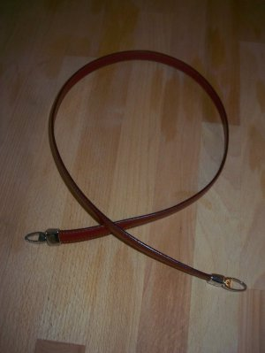 0039 Italy Leather Belt bronze-colored leather