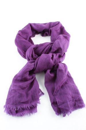 Toosha Écharpe en cachemire violet style décontracté