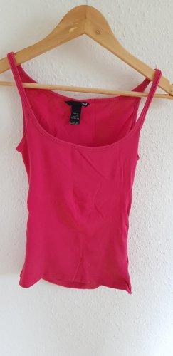 H&M Basic Top de tirantes finos rosa-magenta