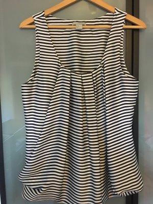 H&M Blouse topje zwart-wit Polyester