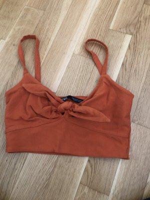 Zara Haut bandeau orange
