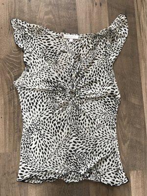 Kookai Top koszulowy biały-czarny