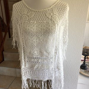 Street One Top a uncinetto bianco sporco