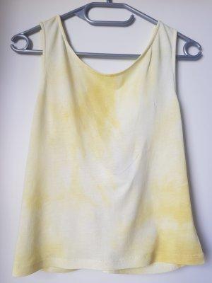 Mango Rugloze top lichtgeel-geel