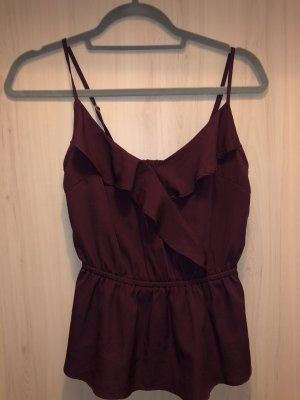 Taily Weijl Top z falbankami purpurowy-bordo