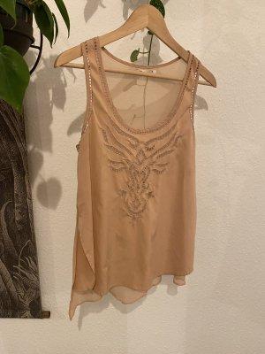 Bershka Strappy Top nude-pink