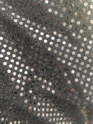 Blusa sin espalda negro-color plata