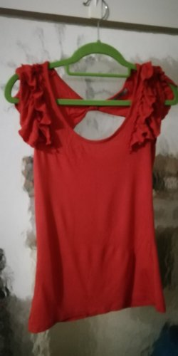 3 Suisses Frill Top red