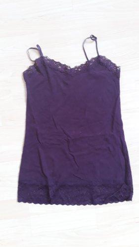 Amisu Top di merletto viola scuro