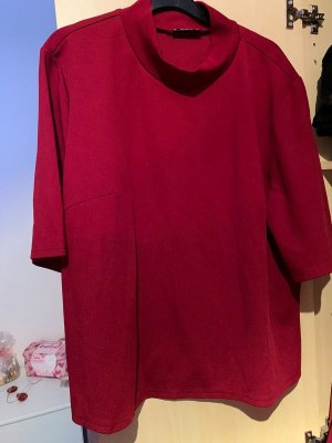 SheIn Neckholder Top dark red