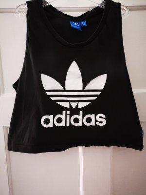 Adidas Top deportivo sin mangas blanco-negro
