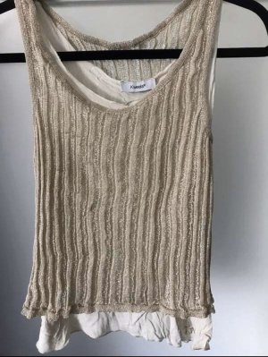 Knitted Top gold-colored-oatmeal